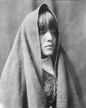 Tewa Indian Girl Edward S. Curtis Portrait Photo Print
