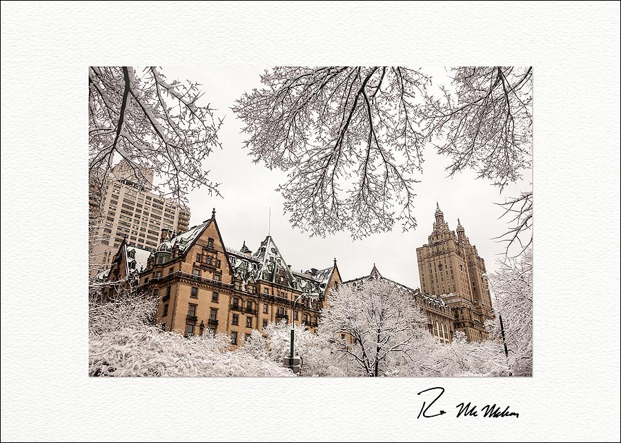 The Dakota and San Remo Winter NYC Personalized Christmas Cards