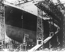 The Titanic Ship in Dry Dock 1912 Photo Print for Sale