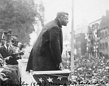 Theodore Roosevelt Making Speech w/ Crowd Photo Print for Sale