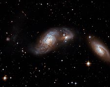 Three Merging Galaxies Hubble Space Telescope Photo Print for Sale