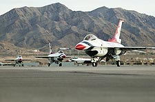 Thunderbirds F-16 Fighting Falcons Taxiing Photo Print for Sale