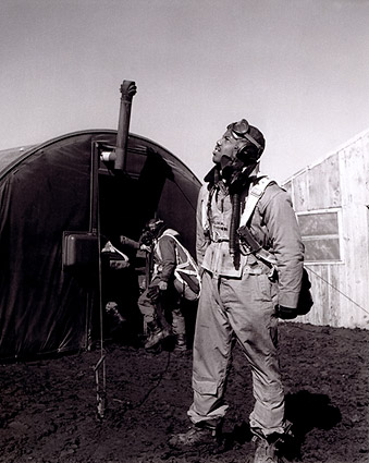 Toni Frissell WWII Tuskegee Airman in Italy  Photo Print