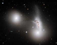 Trio of Galaxies Hubble Space Telescope Photo Print for Sale