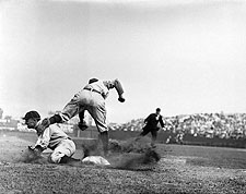Ty Cobb Stealing Third Base for Detroit Tigers Photo Print for Sale