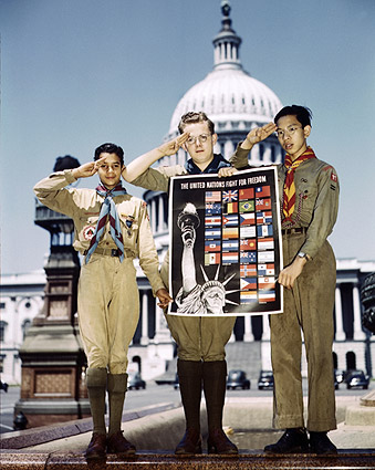 U.N. Fight for Freedom & Boy Scouts WWII Photo Print