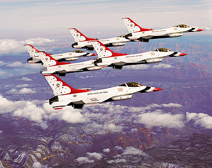 U.S. Air Force Thunderbirds Grand Canyon Photo Print