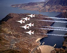 U.S. Air Force Thunderbirds Hoover Dam Photo Print for Sale