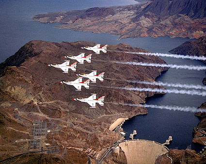 U.S. Air Force Thunderbirds Hoover Dam Photo Print