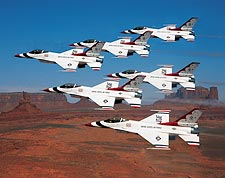 U.S. Air Force Thunderbirds Monument Valley Photo Print for Sale