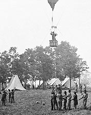U.S. Civil War Union Observation Balloon Photo Print for Sale
