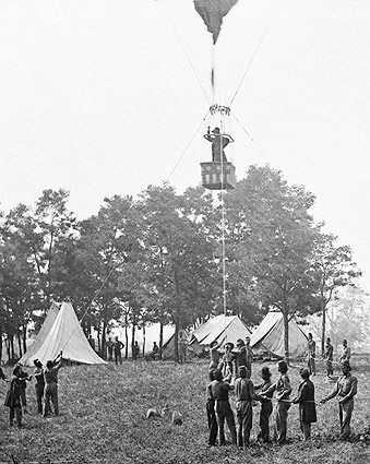 U.S. Civil War Union Observation Balloon Photo Print