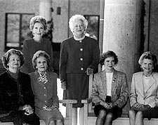 U.S. First Ladies Portrait at Reagan Library 1991 Photo Print for Sale