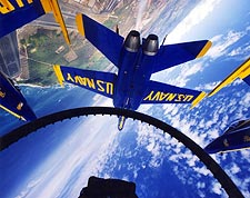 U.S. Navy Blue Angels in Flight Cockpit Photo Print for Sale