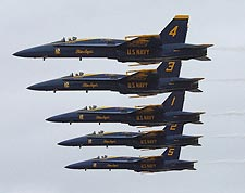 U.S. Navy Blue Angels in Formation at Miramar Air Show Photo Print for Sale