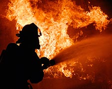 U.S. Navy Training Exercise Firefighter  Photo Print for Sale