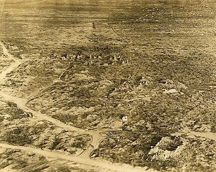 Unidentified Destroyed Village WWI Photo Print