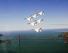 USAF Thunderbirds Golden Gate Bridge Photo Print for Sale