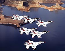 USAF Thunderbirds over Lake Powell Photo Print for Sale