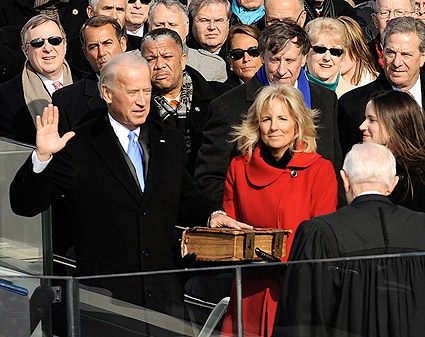 Vice President Joe Biden Taking Oath of Office Photo Print