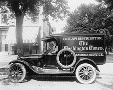 Washington Times Newspaper Truck 1920s Photo Print for Sale
