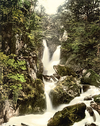 Waterfall in Ambleside, England 1890s Photo Print