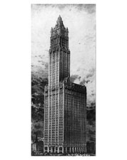 Woolworth Building Cass Gilbert NYC 1911 Photo Print for Sale