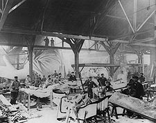 Workmen Constructing Statue of Liberty in Paris 1882 Photo Print for Sale
