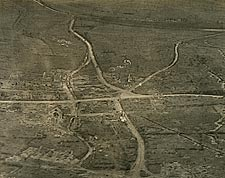 WWI Aerial View of Nantillois, France Photo Print for Sale