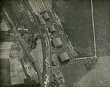 WWI Airfield View from Observation Balloon Photo Print for Sale