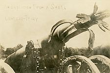 WWI Cannon at Battle of Ch�teau-Thierry 1918 Photo Print for Sale