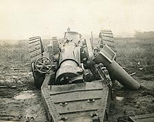 WWI Cannon Destroyed Photo Print for Sale