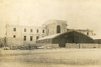 WWI Ruins of Rheims Square in France Photo Print