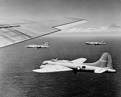 WWII B-17 Aircraft in Bombing Formation Photo Print