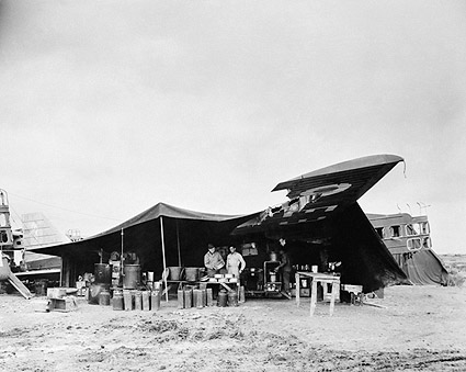 WWII Destroyed Aircraft as a Mess Kitchen Photo Print
