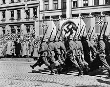 WWII German Nazi Soldiers Marching 1946 Photo Print for Sale