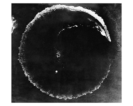 WWII Japanese Aircraft Carrier Circling Photo Print