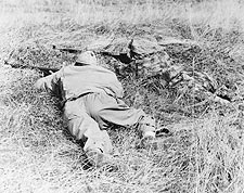 WWII Snipers Camouflaged in the Brush Photo Print for Sale