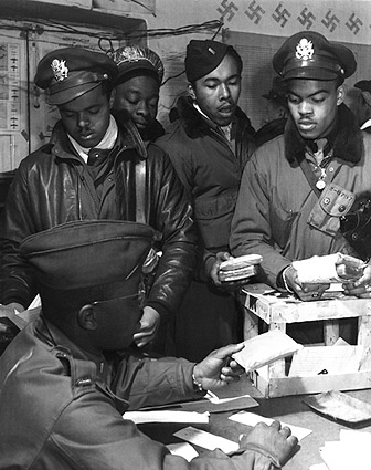WWII Tuskegee Airmen Fighter Pilots Italy Photo Print