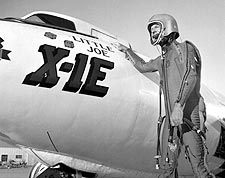 X-1E Rocket Plane w/ Joe Walker Photo Print for Sale