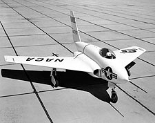 X-4 Bantam Research Aircraft on Ramp NASA Photo Print for Sale