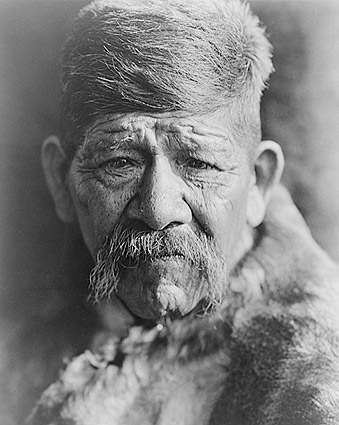 Yokuts Chief Edward S. Curtis Portrait 1924 Photo Print