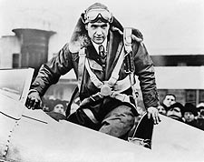 Young Aviator Howard Hughes in Cockpit Photo Print for Sale