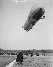 Zeppelin 3 Blimp / Airship In Flight 1907 Photo Print for Sale