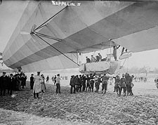 Zeppelin Airship / Dirigible No.3 On Ground Photo Print for Sale