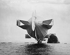 Zeppelin Blimp / Airship Stern 1908 Photo Print for Sale