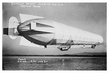 Zeppelin Blimp / Airship Takeoff 1908 Photo Print