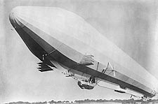 Zeppelin Passenger Airship In Flight Photo Print for Sale