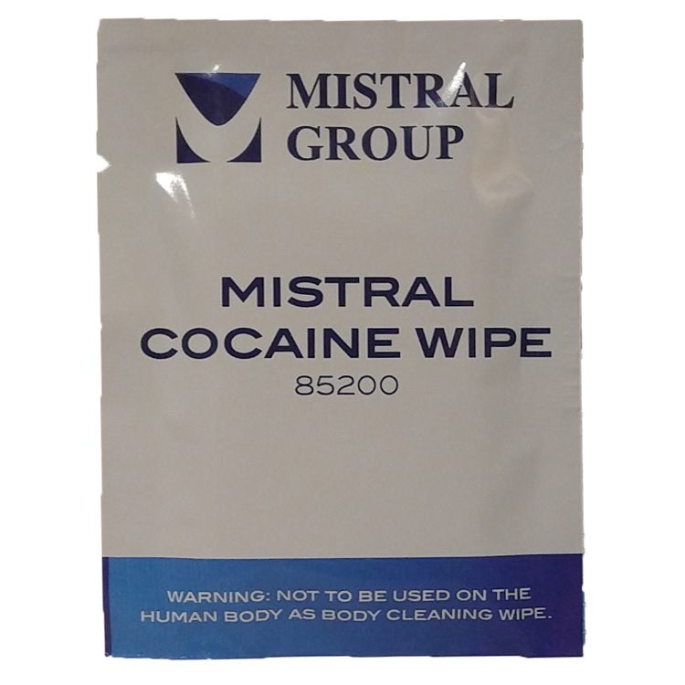 Cocaine Surface Residue Drug Detection Wipe ย– Wiping