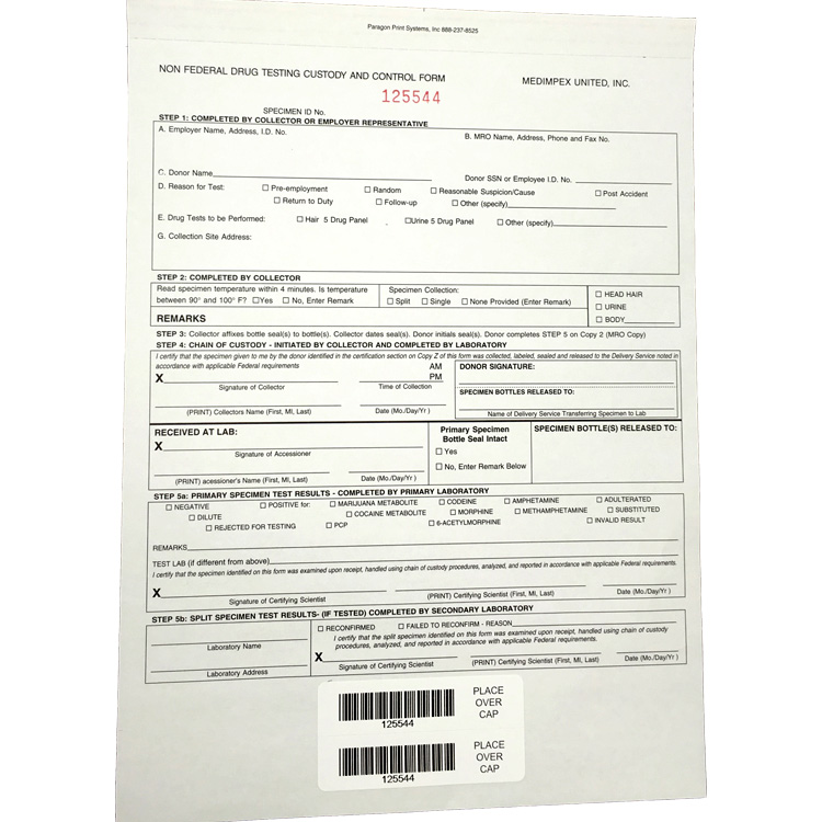 Chain of Custody Control Form
